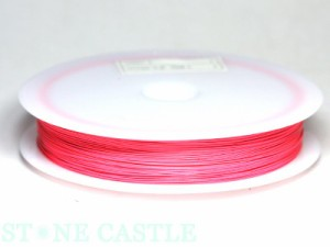 【天然石 パーツ】ナイロンコートワイヤー(0.38mm) [一巻] 各種※ネコポス不可※ パワーストーン