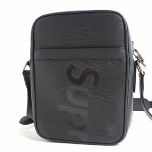 未使用品★17年 ルイヴィトン×シュプリーム M53431 エピ ダヌーブPM ショルダーバッグ ブラック イタリア製 箱・保存袋付き
