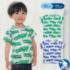 [吸水速乾]スラブワニ総柄半袖Tシャツ【80cm・90c...