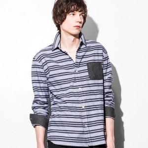 AKM Contemporary(AKM Contemporary)/AKM Contemporary(エイケイエムコンテンポラリー) ポケット付ボーダーシャツ