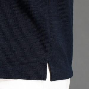 ムッシュニコル(MONSIEUR NICOLE)/リブ切り替え半袖ポロシャツ