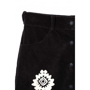 ローズバッド(ROSE BUD)/刺繍入りボックススカート
