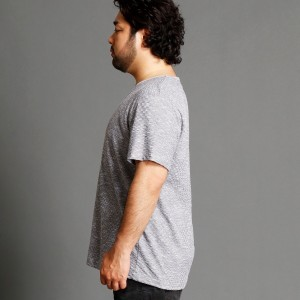 ハイダウェイ(大きいサイズ)(HIDEAWAYS)/リンクスジオメトリック柄半袖プルオーバー