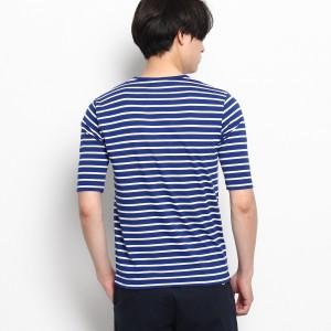 ベース ステーション(メンズ)(BASE STATION Mens)/【WEB限定】ボーダーVネック5分袖Tシャツ