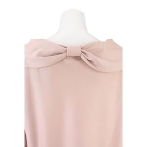 ローズティアラ(大きいサイズ)(Rose Tiara)/全3色【大きいサイズ】【42・46】リボンデザインオフショル風カットソートップス