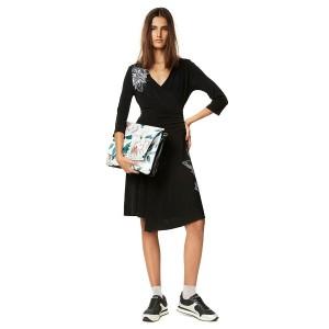 デシグアル(Desigual)/ショルダーやスカートサイドの繊細なプリントに心惹かれるワンピース
