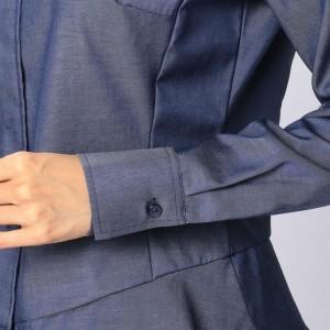 ナラカミーチェ(NARACAMICIE)/コットンフライフロント長袖シャツ