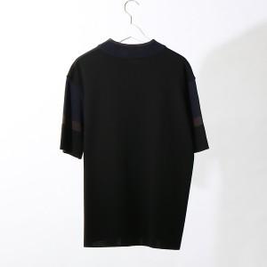 アバハウス(ABAHOUSE)/カラーブロックモックネックZIP Tシャツ