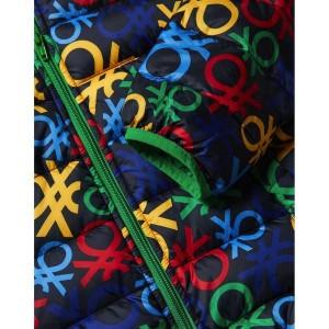 ベネトン キッズ(UNITED COLORS OF BENETTON)/KIDS中綿ロゴプリントフードジャケット