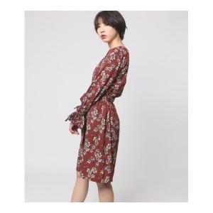 アウリィ(AULI)/花柄ワンピース(インナーOP付)