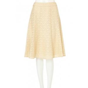 アリスバーリー(Lサイズ)(Aylesbury)/◆大きいサイズ◆配色ラッセルフラワーレーススカート