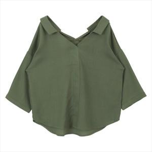 ティティベイト(titivate)/抜き衿スキッパーシャツ