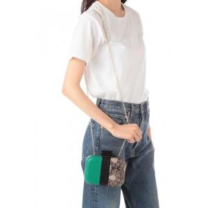 ローズバッド(ROSE BUD)/配色×パイソン柄ミニショルダーバッグ
