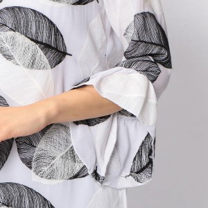 ナラカミーチェ(NARACAMICIE)/シフォンリーフ刺繍プルオーバーブラウス