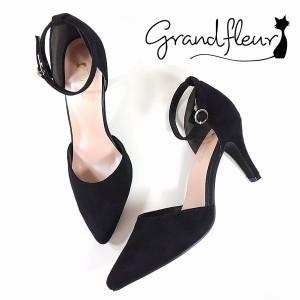 グランドフルール(grandfleur)/【WEB限定】スエード調セパレートパンプス【ヒール8cm】