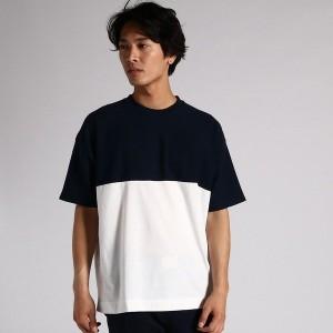 ライトオン(メンズ)(Right−on)/【PLUS ONE】インレイ地ビッグシルエット半袖Tシャツ メンズ