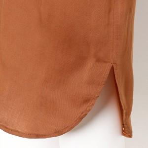 フルールbyミントブリーズ(Fleur)/【大きいサイズ】【L〜5L】スキッパー衿のシャツワンピース