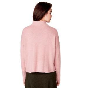ベネトン レディース(UNITED COLORS OF BENETTON)/『SPRiNG12月号掲載』アルパカ5%袖リブデザインUネックニット・セーター