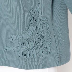 グリーンノート(大きいサイズ)(greennout)/【大きいサイズ】【13・15・19号】【暖か】コード刺繍入りカーディガン