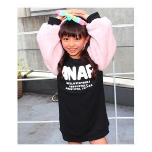 アナップキッズ&ガール(ANAP KIDS&GIRL)/ふわふわファースリーブワンピース