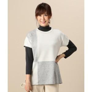 ジェーンモア Sサイズ(JANE MORE S)/【洗える】ヘリンボーンリバーシブル 半袖ニット