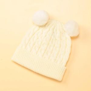コムサフォセット(COMME CA FOSSETTE)/ボンボン付ニット帽