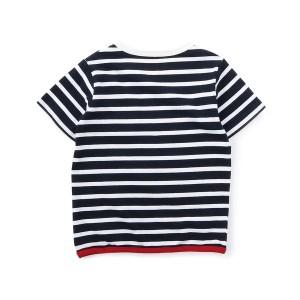 ライトオン(キッズ)(Right−on)/【Lee】胸ポケット付きボーダーTシャツ キッズ
