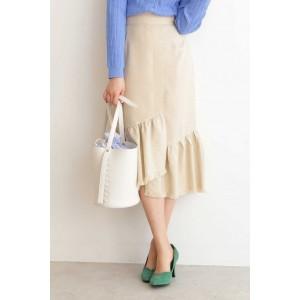 フリーズマート(Free's Mart)/麻調裾フリンジスカート