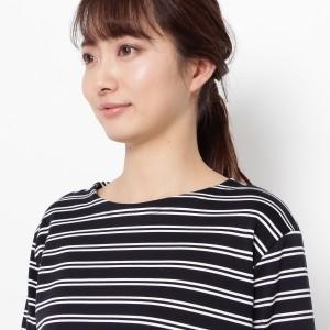 スマートピンク(smart pink)/◆【洗える】ボーダーロングTシャツ
