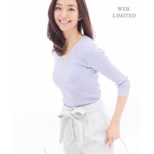 アイシービー L(ICB L)/【2018春のWEB限定カラー】Tratto アクセサリーネックニット