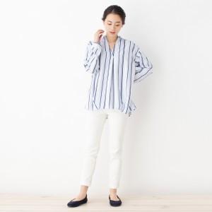 シューラルー(レディス)(SHOOLARUE Ladies)/マルチストライプスキッパーシャツ
