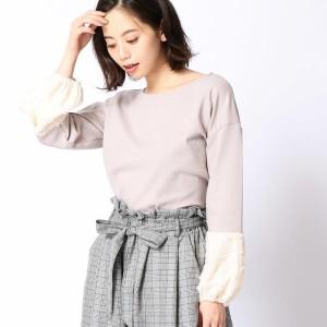 二コルホワイト(NICOLE white)/袖切り替えプルオーバー