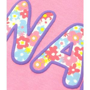 アナップキッズ&ガール(ANAP KIDS&GIRL)/花柄ロゴチュールドッキングロンパース