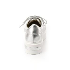 ピックアンドペイ(PIC & PAY)/本革×合成皮革 厚底ソール サイドゴア スリッポン スニーカー(ブラック)