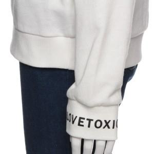ラブトキシック(Lovetoxic)/リボン肩開き裏毛トレーナー