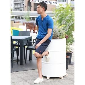 ジョルダーノ(メンズ)(GIORDANO)/ジョルダーノ(【2018春夏商品】VネックヘンリーTEE)