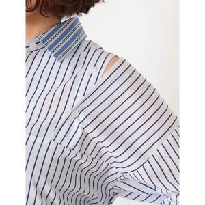 リドルフロム(rid.dle from…)/バイカラーストライプシャツ