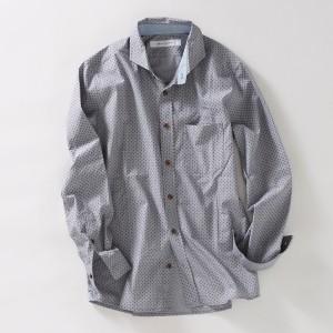 メンズメルローズ(MEN'S MELROSE)/ハケメペイズリーシャツ