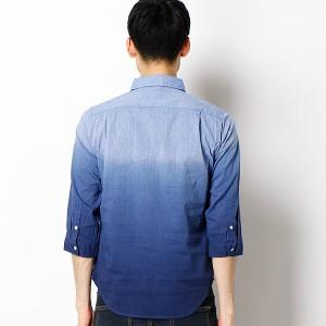 ルパート(DESTRAD)/定番人気!!7部袖ディップダイ加工シャツ