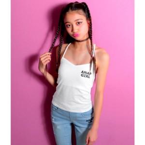 アナップキッズ&ガール(ANAP KIDS&GIRL)/胸ロゴパッド付キャミソール