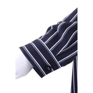 フィットミーモア(Fitme Moi)/ストライププリントロングシャツ【手洗いOK】