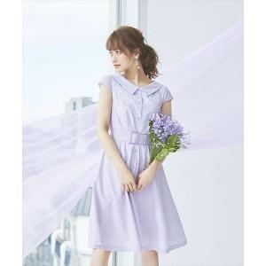 デビュー・ド・フィオレ(Debut de Fiore)/抜け衿ストライプシャツワンピース