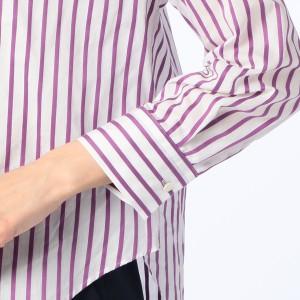 ノーリーズ レディース(NOLLEY'S)/ストライプVネックシャツ