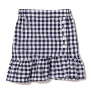 プティマイン(petit main)/裾フリル切り替えギンガムチェック柄スカート