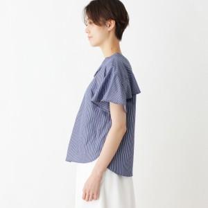 インデックス(index)/【洗える】バックフリルシャツブラウス