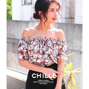チル(CHILLE)/花柄オフショルトップス