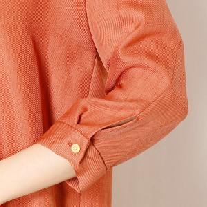 キャサリンロス(KATHARINE ROSS)/【KATHARINE ROSS】 手洗い可 前後2WAYバックツイストスラブシャツワンピース
