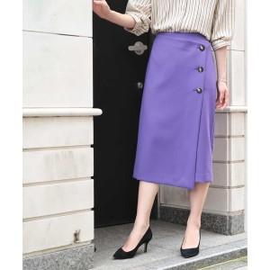 エル(レディス)(ELLE)/サイドボタン付きナロースカート