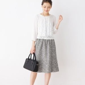 a7d75547a84ee サンカンシオン(レディス)(3can4on Ladies) ワンピース( 4(LL