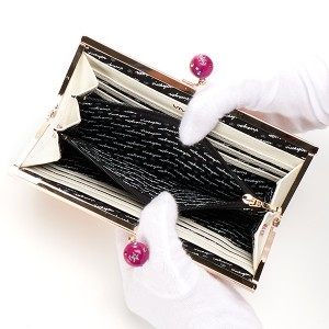 f15e766c0f75 ビバユー(バッグ&ウォレット)(VIVAYOU)/シャイニー・グリッターがま口長財布. カラー(22)